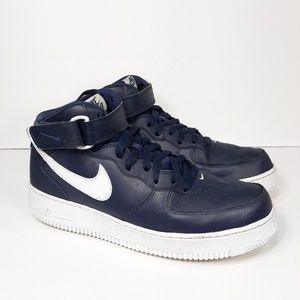 Nike Air Force 1 Mid Navy Blue Sz 9.5